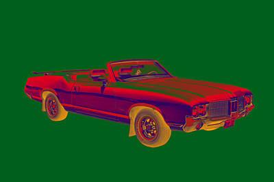 Oldsmobile Cutlass Supreme Muscle Car Art Print by Keith Webber Jr