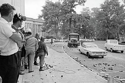Photograph - Ole Miss Riot, 1962 by Granger