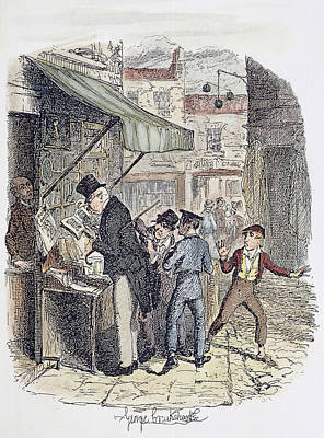 Theft Painting - Oliver Twist, 1837-38 by Granger