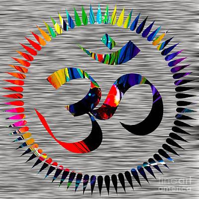 Yoga Mixed Media - Om by Marvin Blaine