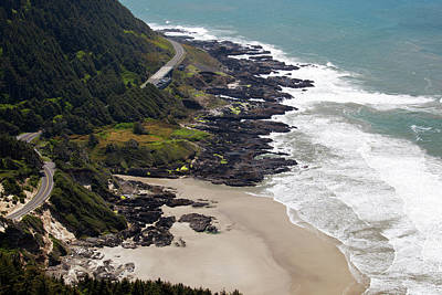 Pacific Coast Highway Wall Art - Photograph - Or, Cape Perpetua Scenic Area, View by Jamie and Judy Wild