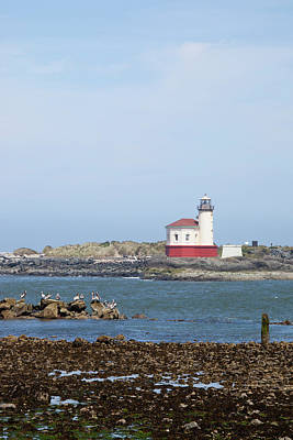 Coquille River Lighthouse Photograph - Or, Oregon Coast, Bandon, Coquille by Jamie and Judy Wild