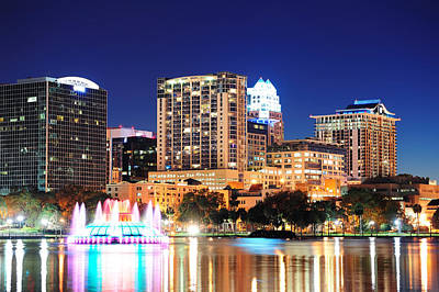 Photograph - Orlando At Night by Songquan Deng
