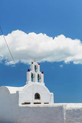Photograph - Orthodox Church In Santorini by Deimagine