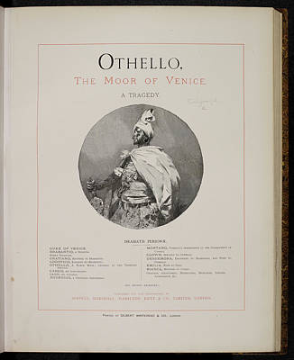 Portaits Photograph - Othello. The Moor Of Venice by British Library