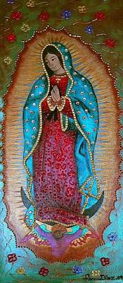 Our Lady Of Guadalupe Painting - Our Lady Of Guadalupe by Fanny Diaz