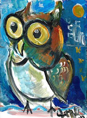 Painting - Owl  by Jon Baldwin  Art