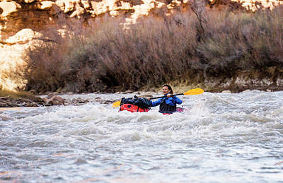 Using The River Photograph - Packrafting The Colorado River by Brent Olson