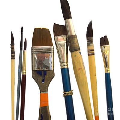 Medium Group Of Objects Photograph - Paintbrush by Bernard Jaubert