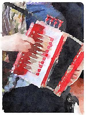 Digital Art - Accordion by Shannon Grissom