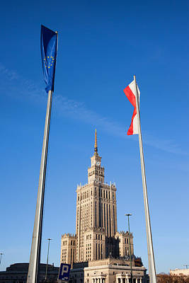 Palace Of Culture And Science In Warsaw Print by Artur Bogacki