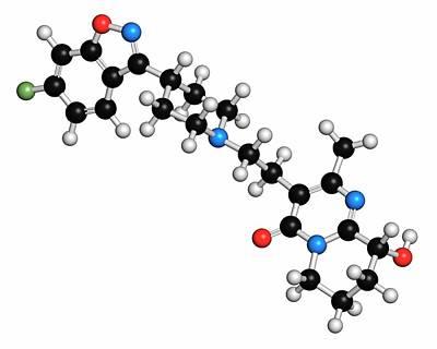 Schizophrenia Photograph - Paliperidone Drug Molecule by Molekuul