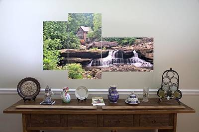 Photograph - 3-panel - Glade Creek Grist Mill by Gordon Elwell