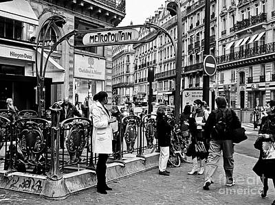 Photograph - Paris - France - Street Scene by Carlos Alkmin