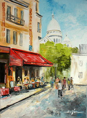 Painting - Paris Cafe by Luke Karcz