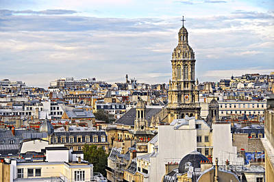 Chimney Photograph - Paris Rooftops by Elena Elisseeva