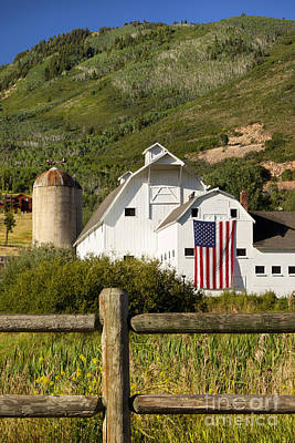 Wooden Fence Post Photograph - Park City Barn by Brian Jannsen