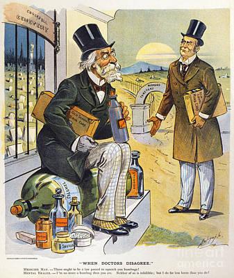 Patent Medicine Cartoon Art Print by Granger