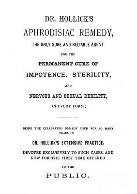 Aphrodisiac Photograph - Patent Medicine by Granger