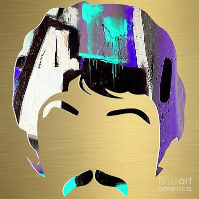 Rock Art Mixed Media - Paul Mccartney Gold Series by Marvin Blaine