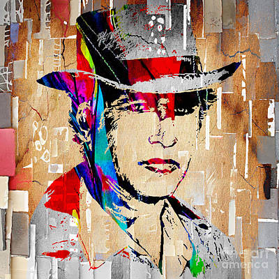 Actors Mixed Media - Paul Newman Collection by Marvin Blaine