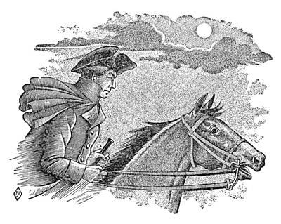 Paul Reveres Ride Art Print by Granger
