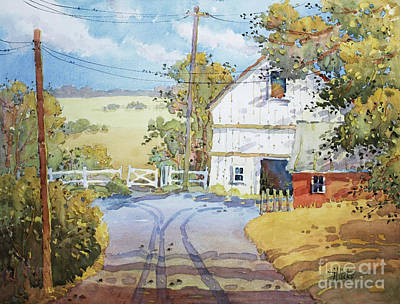 Pennsylvania Farm Painting - Peaceful In Pennsylvania by Joyce Hicks