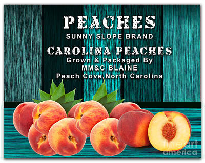 Peach Farm Print by Marvin Blaine