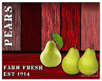 Pear Mixed Media - Pear Farm by Marvin Blaine