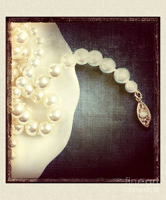 Polaroid Photograph - Pearls by HD Connelly