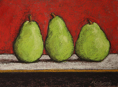 Pastel - 3 Pears by Marna Edwards Flavell