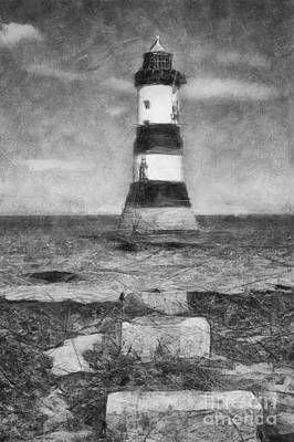 Photograph - Penmon Lighthouse by Ian Mitchell
