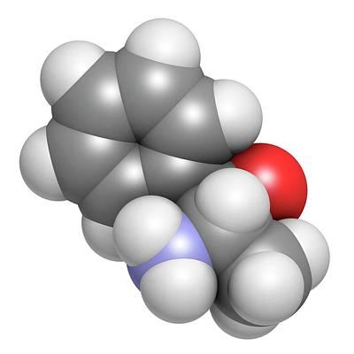 Phenylpropanolamine Drug Molecule Art Print
