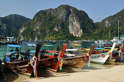 Longtail Wall Art - Photograph - Phi Phi Island, Thailand by Andrea Pistolesi