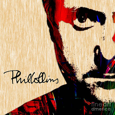 Phil Collins Collection Art Print by Marvin Blaine