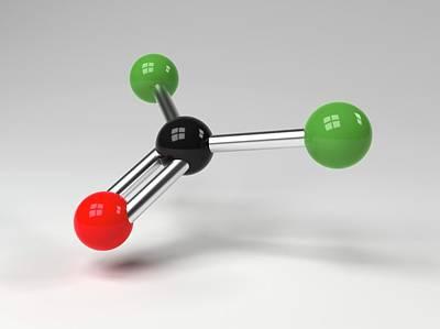 Atom Photograph - Phosgene Molecule by Indigo Molecular Images