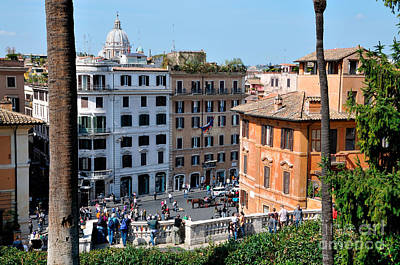Photograph - Piazza Di Spagna In Rome by George Atsametakis