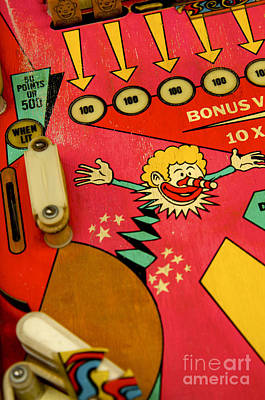 Pinball Machine Art Print by Bernard Jaubert