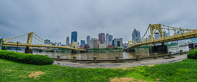 Photograph - Pittsburgh Pa Skyline On Cloudy Day by Alex Grichenko