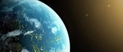 Planet Earth Art Print by Sciepro