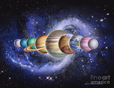 Photograph - Planets In The Solar System by Chris Bjornberg