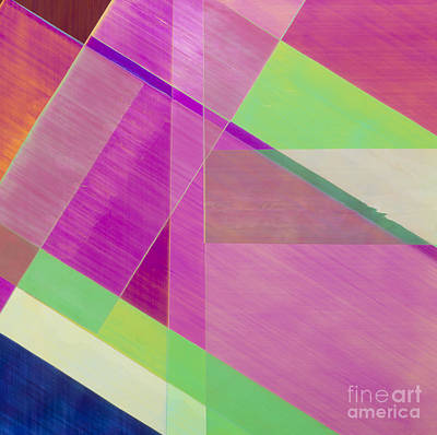 Cellophane Photograph - Plm Of Strips Of Cellophane by Dr. Jeremy Burgess