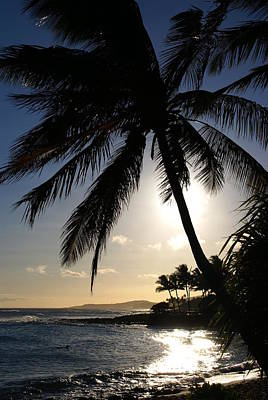 Photograph - Poipu Beach Sunset by Robert Lozen