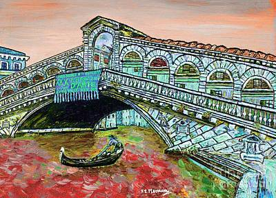Grande Painting - Across The Grand Canal by Loredana Messina