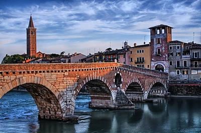 Shakespeare Photograph - Historic Ponte Pietra Verona by Carol Japp