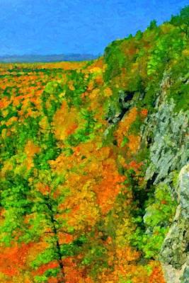Porcupine Digital Art - Porcupine Mountains  by Pat Now