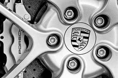 Car Photograph - Porsche Wheel Emblem by Jill Reger