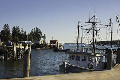 Maine Seascapes Photograph - Port Clyde Maine Boats And Harbor by Keith Webber Jr