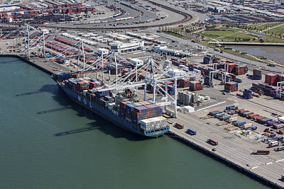 Photograph - Port Of Oakland, Oakland by Dave Cleaveland