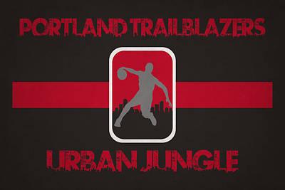 Portland Trailblazers Print by Joe Hamilton
